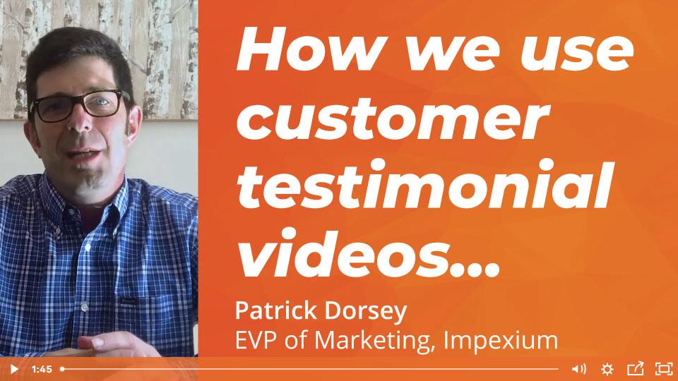 How We Use Customer Testimonial Videos