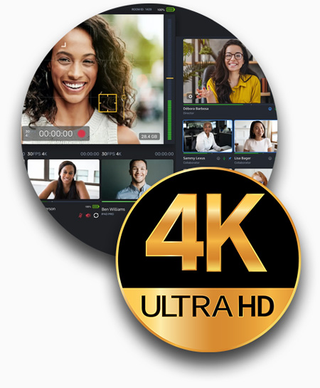 4K Resolution Remote Video Production